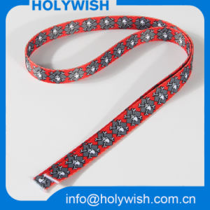 Popular Heat Transfer Skull Lanyard Ribbon with Red Strap pictures & photos