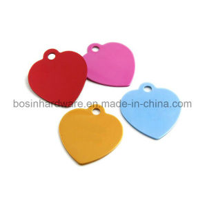 Heart Shaped Metal Alumminum Dog Tag pictures & photos
