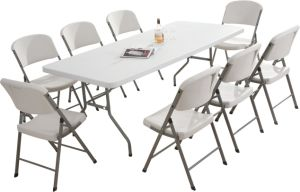 Wholesale 6FT Plastic Folding Long Table, Banquet Table pictures & photos