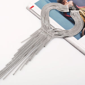 Alloy Long Rhinestone Fashion Multilayer Tassel Statement Necklace Jewelry pictures & photos