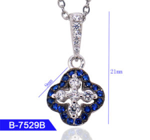 New Model 925 Sterling Silver or Brass Bridal Jewelry Multicolor CZ Stone Pendant for Women pictures & photos
