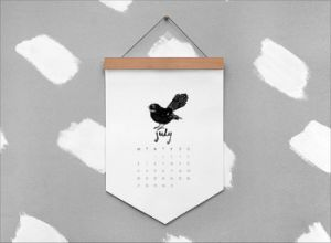Simple Design Full Color Printing Wall Calendar Printing pictures & photos