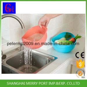 Hot New Design Home Kitchen Wash and Drain Basket/Plastic Colander pictures & photos