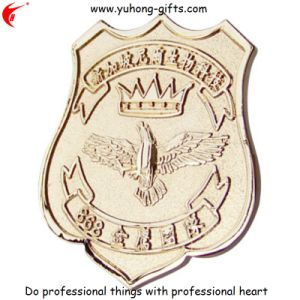 High Quality 3D Custom Made Metal Bullion Badges (YH-MP028) pictures & photos