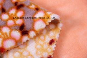 Printed Polyester Flannel/Coral Fleece Fabric - 16649-9 1# pictures & photos