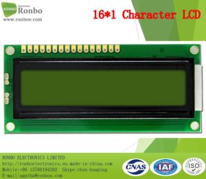 16X1 Character LCD Display, MCU 8bit, Stn Y-G, 16pin Header, COB LCD Screen pictures & photos