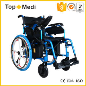 Foshan Foldable Electric Wheelchair with Fashion Wheel for Disable pictures & photos