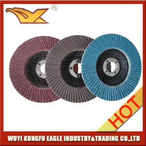 4′′ Zirconia Alumina Oxide Flap Abrasive Discs with Fibre Glass Cover pictures & photos