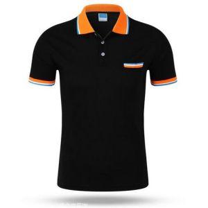 Mens Custom CVC Pique Polo Shirt with One Pocket pictures & photos