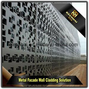 Exterior Decorative Laser Cut Aluminum Perforated Curtain Wall Cladding pictures & photos