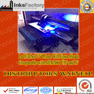 Distributors Wanted: Flatbed LED UV Printers with 90cm*60cm Print Size pictures & photos