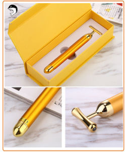 Beauty Bar 24k Golden Pulse for Skin Care Gold Facial Massager Pusle Roller pictures & photos