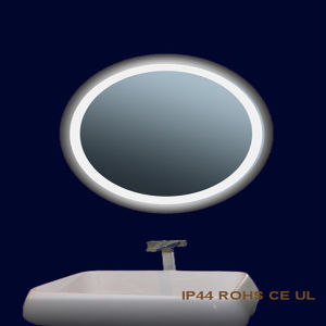 Apartment Villas Vanity Frameless Beveled LED Anti-Fog Electric Mirror Lighted pictures & photos