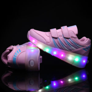 Whole Sale LED Light Roller Skate Shoes for Adults pictures & photos