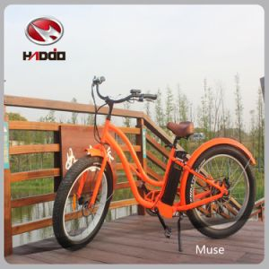 26′′500W Fat Tire Electric Beach Motorcycle with Suspension pictures & photos