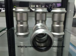 Stainless Steel Press Pipe Fittings Equal Coupling pictures & photos