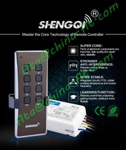 433.92MHz / 315MHz Light Group Remote Controller pictures & photos