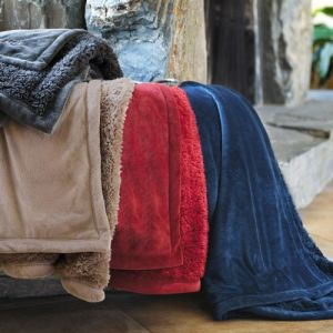 Factory Hot Sales Micro Mink Cozy Sherpa Blanket pictures & photos