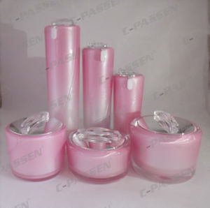 Mirror Pink Cosmetic Packaging Acrylic Cream Jar Lotion Bottle (PPC-NEW-072) pictures & photos