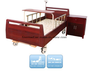 Two Crank Home Care Manual Nurse Bed pictures & photos