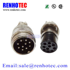 Docking Type Circular Avaition Plug and Socket 10 Pin Gx16 connector pictures & photos
