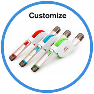Logo Custom 2 in 1 Retractable USB Cable pictures & photos