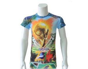 Sublimation Printing Men T-Shirt/Short Sleeve T-Shirt/ Heat Tranfer Printing T-Shirt pictures & photos