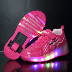 Single Wheels Retractable Roller Skate Shoes pictures & photos