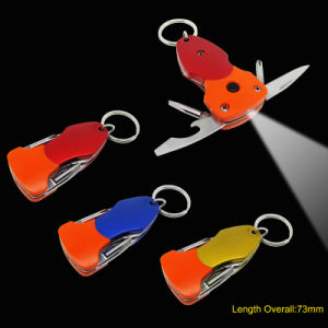 Multi Function Key Chain Tools with LED Torch (#6128-ORG) pictures & photos
