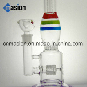 Various Colors Matrix Percolator Glass Water Pipe (BY006) pictures & photos