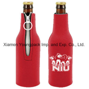 Custom Printed Promotional Orange Neoprene Double Bottle Wine Cooler pictures & photos