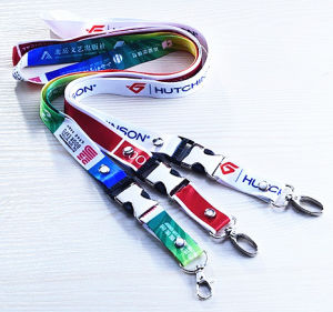 Custom Printed Polyester Lanyards for Promotion Gift (LY-001) pictures & photos