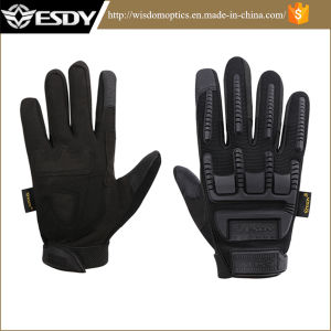 Black Military Shooting Cycling Biking Full Finger Protective Silicone Gloves pictures & photos
