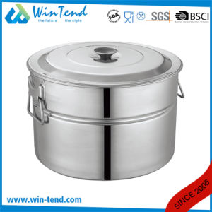 Hot Sale Stainless Steel Storage Portable Stock Pot pictures & photos