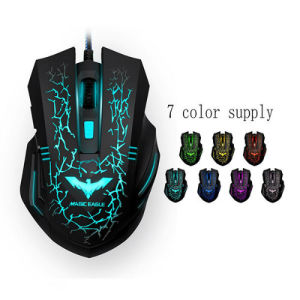 Gamer Gaming Mouse 3D 3200dpi Adjustable Wired Optical LED Laptop Mice USB Mouse pictures & photos