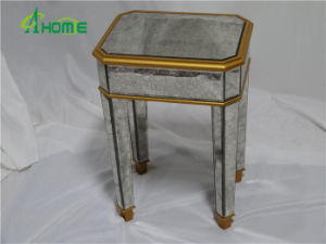 Small Mirrored Golden Office Tea Table Chinese End Table pictures & photos