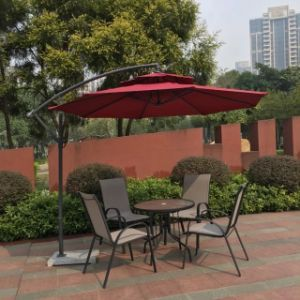 5 PCS All Weather Outdoor Patio Garden Conversation Chair and Table Set Textilene pictures & photos