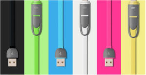 Portable 2 in 1 Mobile Phone Charger Cable USB Cable for iPhone and Android pictures & photos