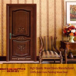 Custom Solid Walnut Wooden Interior Room Door (GSP2-074) pictures & photos