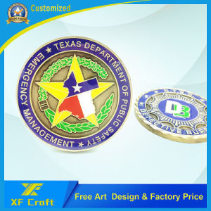 Professional Custom Die Casting Cut Edge Souvenir Challenge Coins with Any Logo (XF-CO19) pictures & photos