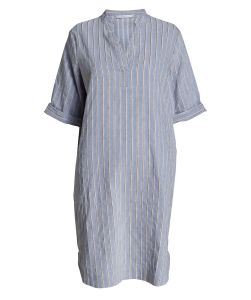 47%Flax 36%Polyester Verity Stripe Dress pictures & photos