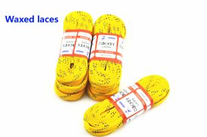 Flat Hockey Shoelace, Pollyester & Cotton Skate Shoes Laces pictures & photos