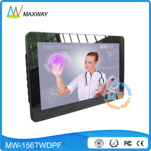 Win7/8/10 Linux 15.6inch Digital Photo Frame Touch Screen Browser pictures & photos
