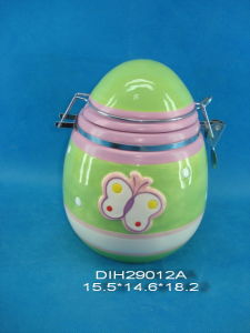 Hand-Painted Ceramic Egg Airtight Canister pictures & photos