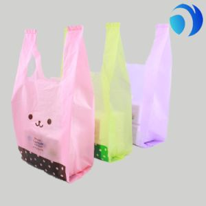 Customized Supermarket Shopping Packaging HDPE T-Shirt Plastic Thank You Bags pictures & photos