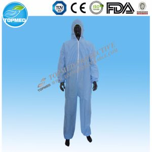 Medical Disposable PP/SMS/Microporos Nonwoven Coveralls pictures & photos