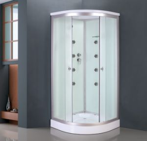 White Glass Painted Shower Cabin (ADL-8701) pictures & photos