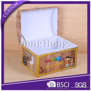Best Selling Printed Suitcase Cardboard Box with Handle pictures & photos