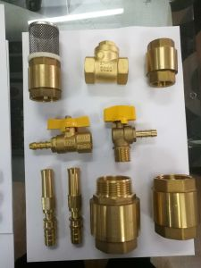 Forged Brass Swing Check Valve with Brass Colour (YD-3010) pictures & photos