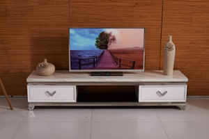 Wholesale TV Stand Free Standing with Stainless Steel Legs pictures & photos